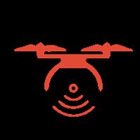 Silueta de un Dron